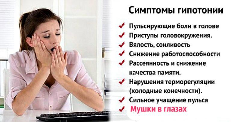 Гипотония - причины, симптомы и лечение