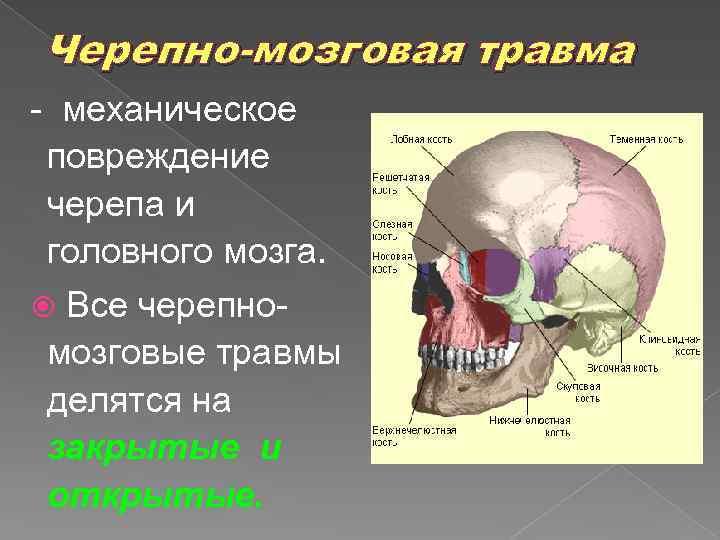 Последствия черепно-мозговой травмы